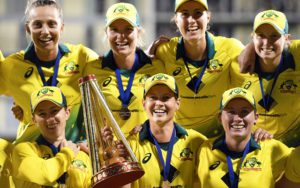 Records that are first created by Female cricketers