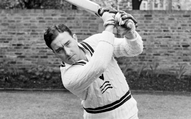 The incident when the umpire debutant Denis Compton LBW