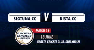 Can Kista Cricket Club Continue their 4 winning steaks against Sigtuna CC on Match 19 ECS T10?