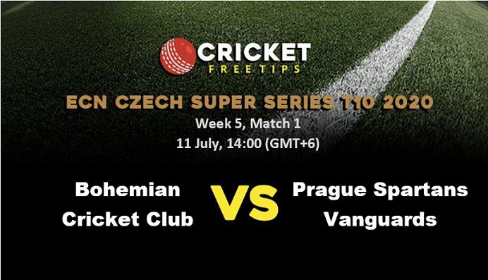 Online Cricket Betting – Free Tips | ECN Czech Super Series 2020 – Week 5: Match 1, Bohemian Cricket Club vs Prague Spartans Vanguards