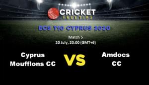 Online Cricket Betting – Free Tips | ECS Cyprus T10: Match 5, Cyprus Moufflons CC v Amdocs CC