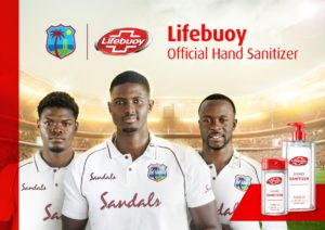 West Indies team has partnered with 'Lifebuoy' after victory over England