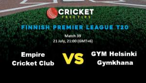 Online Cricket Betting – Free Tips | Finnish Premier League T20: Match 39, Empire CC v GYM Helsinki Gymkhana
