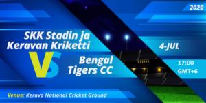Cricket Free Tips| Finnish Premier League 2020 – Match 27, SKK Stadin Ja Keravan Kriketti vs Bengal Tigers CC