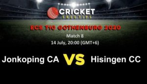 Online Cricket Betting – Free Tips | ECS T10 Gothenburg 2020 – Match 8, Jonkoping CA vs Hisingen CC
