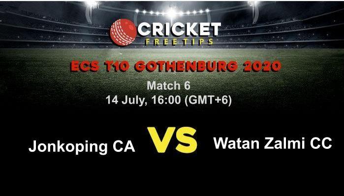 Online Cricket Betting – Free Tips | ECS T10 Gothenburg 2020 – Match 6, Jonkoping CA vs Watan Zalmi CC