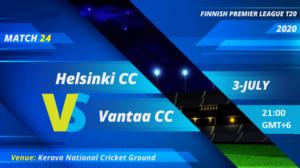 Cricket Free Tips| Finnish Premier League 2020 – Match 24, Greater Helsinki CC vs Vantaa CC