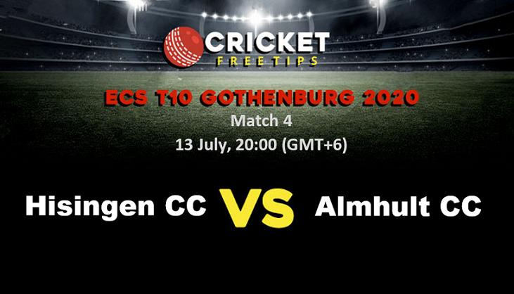 Online Cricket Betting – Free Tips | ECS T10 Gothenburg 2020 – Match 4, Hisingen CC vs Almhult CC
