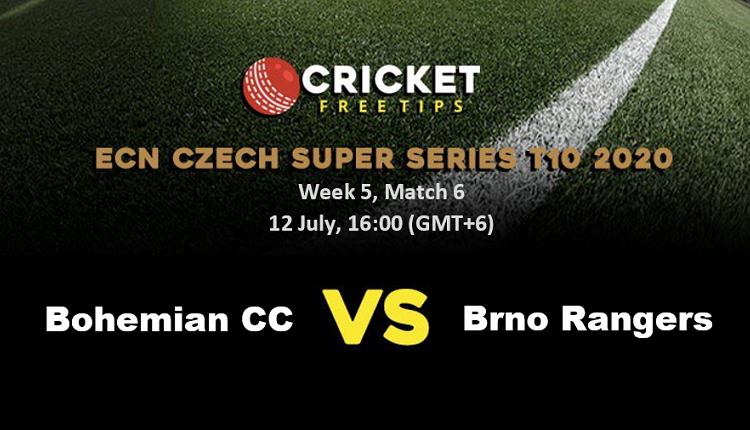 Online Cricket Betting – Free Tips | ECN Czech Super Series 2020 – Week 5: Match 6, Bohemian CC vs Brno Rangers
