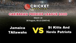 Online Cricket Betting – Free Tips | Caribbean Premier League 2020: Match 18, Jamaica Tallawahs vs St Kitts and Nevis Patriots
