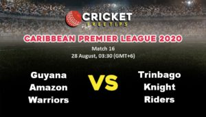 Online Cricket Betting – Free Tips | Caribbean Premier League 2020: Match 16, Guyana Amazon Warriors vs Trinbago Knight Riders