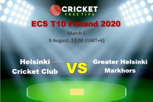 Online Cricket Betting – Free Tips   ECS T10 Finland 2020 – Match 5, Helsinki Cricket Club vs Greater Helsinki Markhors