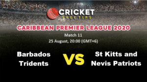 Online Cricket Betting – Free Tips   CPL 2020: Match 11, Barbados Tridents vs St Kitts and Nevis Patriots