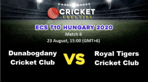 Online Cricket Betting – Free Tips | ECS T10 Hungary 2020: Match 6, Dunabogdany Cricket Club vs Royal Tigers Cricket Club