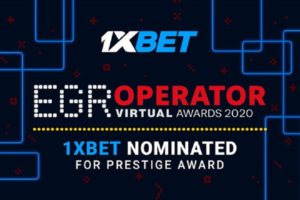 "1xBet nominated as ""eSports Operator"" at EGR Operator Awards"