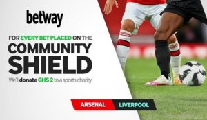 Betway to donate Community Shield bet percentage to Sports Charity