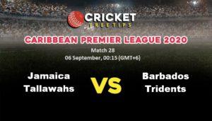 Cricket Free Tips | Caribbean Premier League 2020: Match 28, Jamaica Tallawahs vs Barbados Tridents