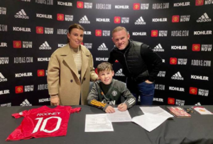 Wayne Rooney announces his son Kai signs for Manchester United