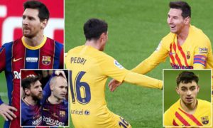Messi has found his Iniesta at Barcelona in teenage star Pedri
