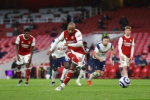 Arsenal won a thrilling 2-1 derby against Tottenham with Lacazette penalty