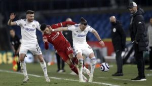 Liverpool drop points against Leeds United remaining outside the Premier League top four
