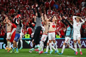 Denmark secured a spot in Euro 2020 last 16 with a massive 4-1 win over Russia