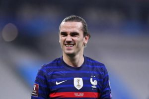 Griezmann joint join Michel Platini to become France's third top scorer of all time