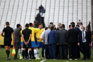 Police stopped the FIFA World Cup 2022 Qualifier between Brazil and Argentina
